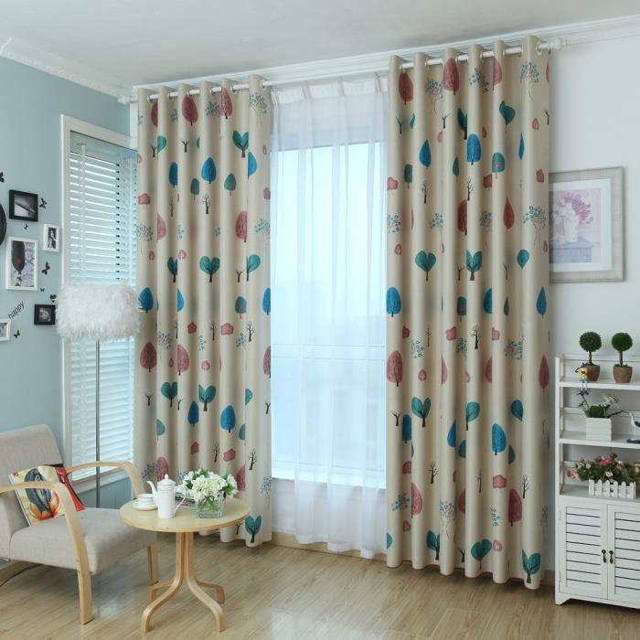 couleur lumineuse jacquard arbres pouvoir trouver bien avec autres rideaux de voile qui donne votre maison une sensation visuelle soigne et lgante - Maison Colore Rideaux