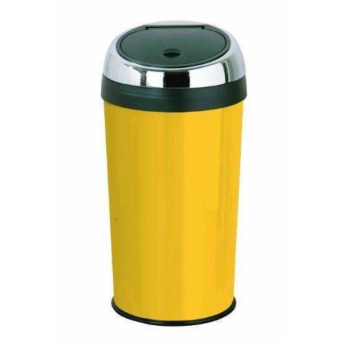 premier housewares 0506438 touchbin poubelle acier inoxydable mail jaune 30 l godet int rieur. Black Bedroom Furniture Sets. Home Design Ideas