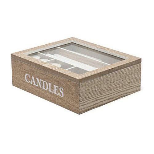Boite de rangement pour bougies finition ch ne achat - Boite rangement bricolage ...