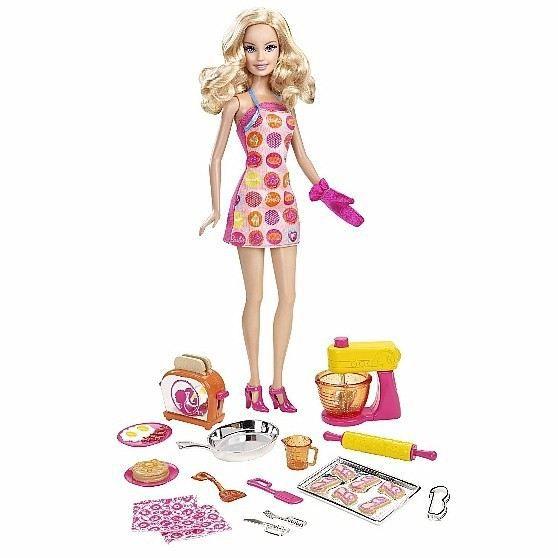 barbie et ses accessoires de cuisine achat vente poup e cdiscount. Black Bedroom Furniture Sets. Home Design Ideas