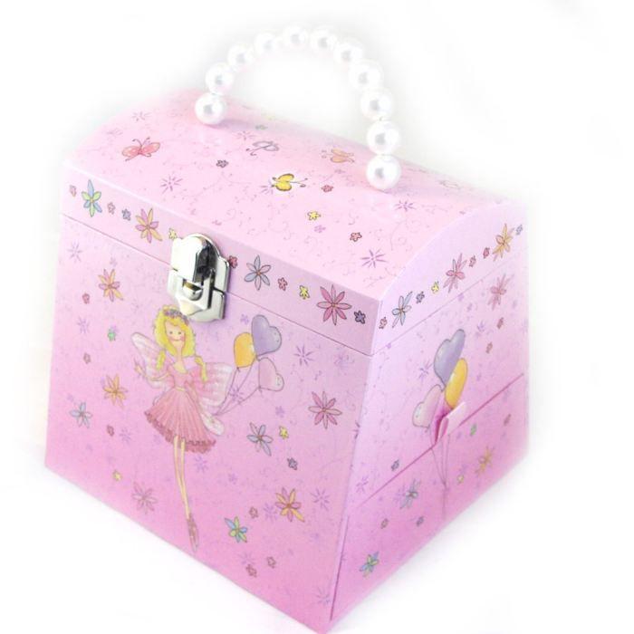 coffret bijoux musical jolie princesse rose achat vente boite a bijoux coffret bijoux. Black Bedroom Furniture Sets. Home Design Ideas