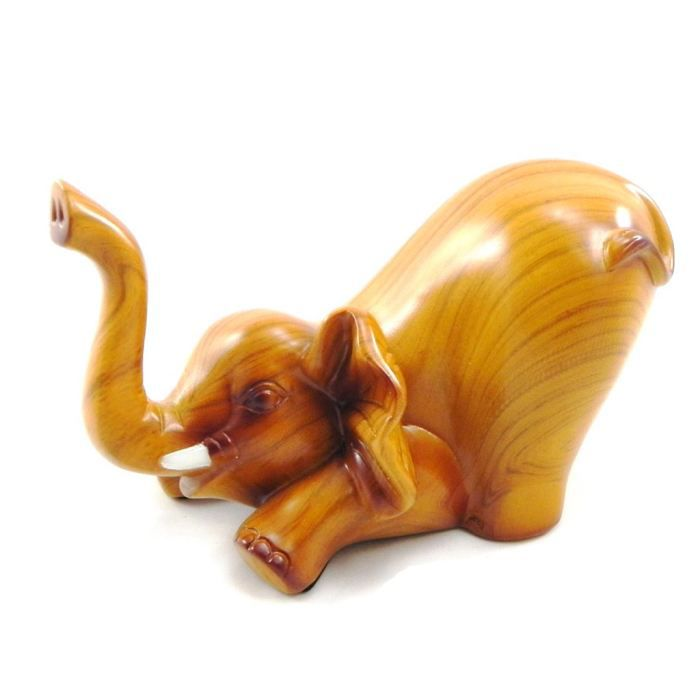 figurine el phant majestueux bois achat vente figurine personnage figurine el phant. Black Bedroom Furniture Sets. Home Design Ideas