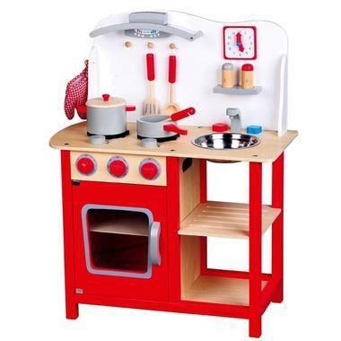 Cuisine jouet en bois cuisiniere bon appetit jeu imitation dinette pour enfant achat vente for Cuisine bois jouet