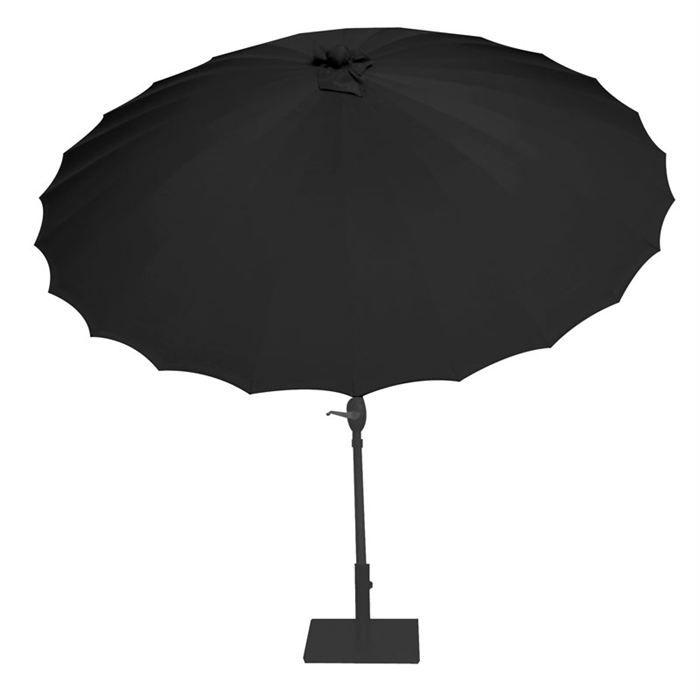 parasol chinois shanghai noir achat vente parasol. Black Bedroom Furniture Sets. Home Design Ideas