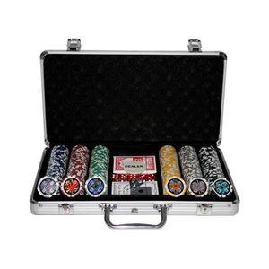 MALETTE POKER Set de poker professionnel composé de 300 jetons
