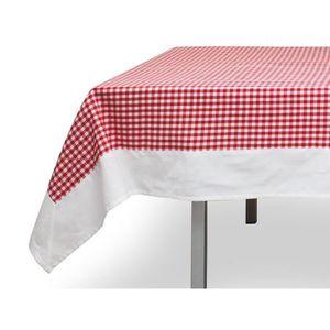 Nappe vichy rouge achat vente nappe vichy rouge pas cher cdiscount - Nappe de table rectangulaire pas cher ...