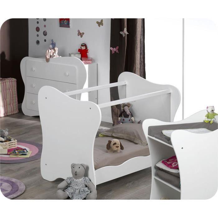 Eb mini chambre b b iris blanche achat vente chambre compl te b b 200 - Chambre bebe cdiscount ...