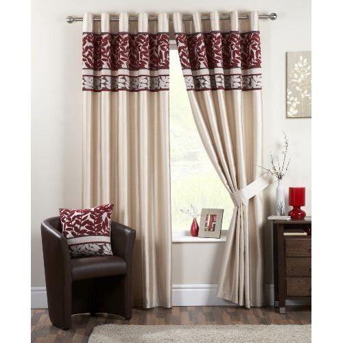 Dreams 39 n 39 drapes coniston rideaux oeillets rouge 90 x for Rideaux cuisine 70 x 90