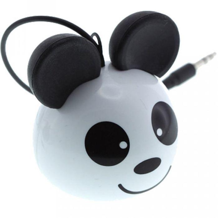 enceinte kitsound mini buddy panda blanc enceintes prix pas cher cdiscount. Black Bedroom Furniture Sets. Home Design Ideas