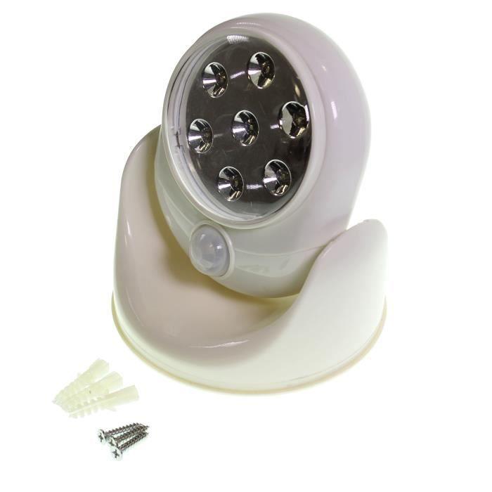 lampe led murale pivotante d tecteur de mouvement achat. Black Bedroom Furniture Sets. Home Design Ideas