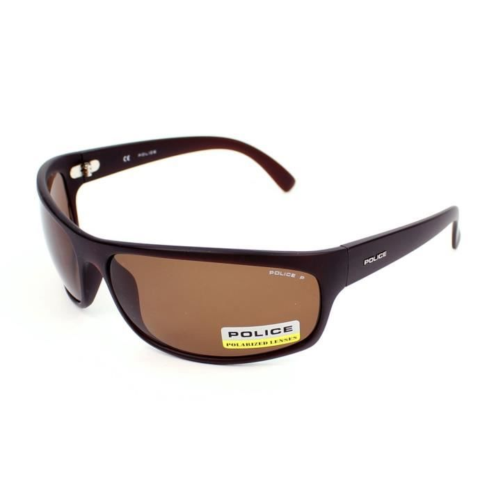 lunettes de soleil police s1863 marron verres marron achat vente lunettes de soleil homme. Black Bedroom Furniture Sets. Home Design Ideas