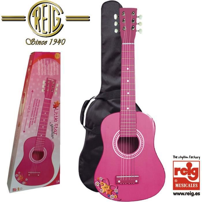 reig 7065 guitare en bois rose 65 cm achat. Black Bedroom Furniture Sets. Home Design Ideas