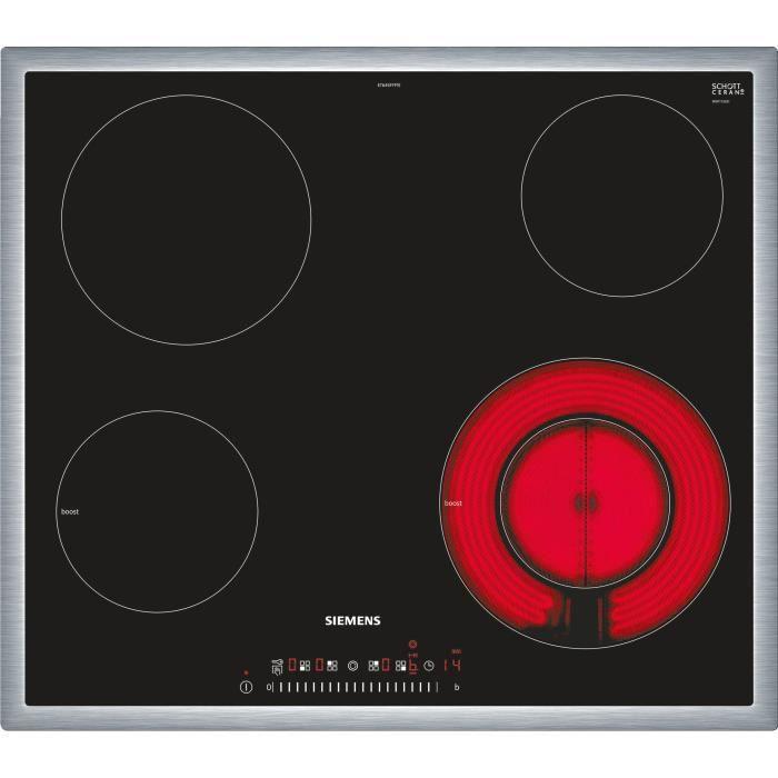 siemens siemens table de cuisson vitroc ramique 59cm. Black Bedroom Furniture Sets. Home Design Ideas