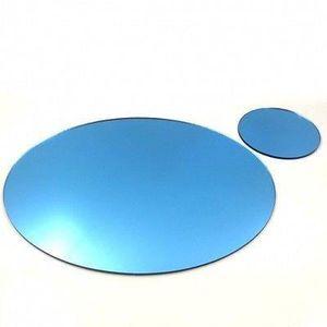 6 miroir bleu napperons ovales et sous verres achat for Miroir 40x150