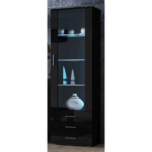 vitrine laque noir achat vente vitrine laque noir pas cher cdiscount. Black Bedroom Furniture Sets. Home Design Ideas