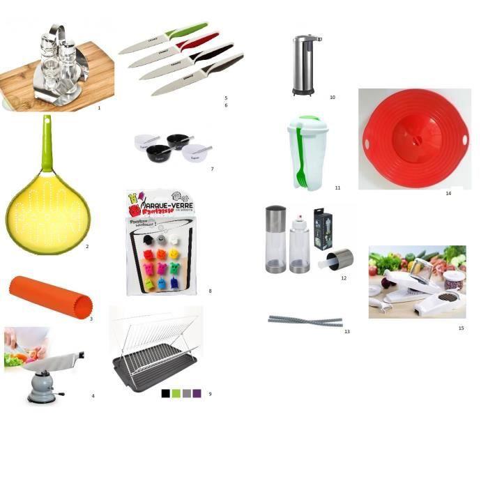 Ensemble de 17 ustensiles de cuisine achat vente lot for Ustensiles de cuisine grenoble