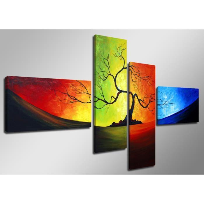Tableau moderne imprim 160x70 cm arbre achat vente tableau toile toi - Vente tableau moderne ...