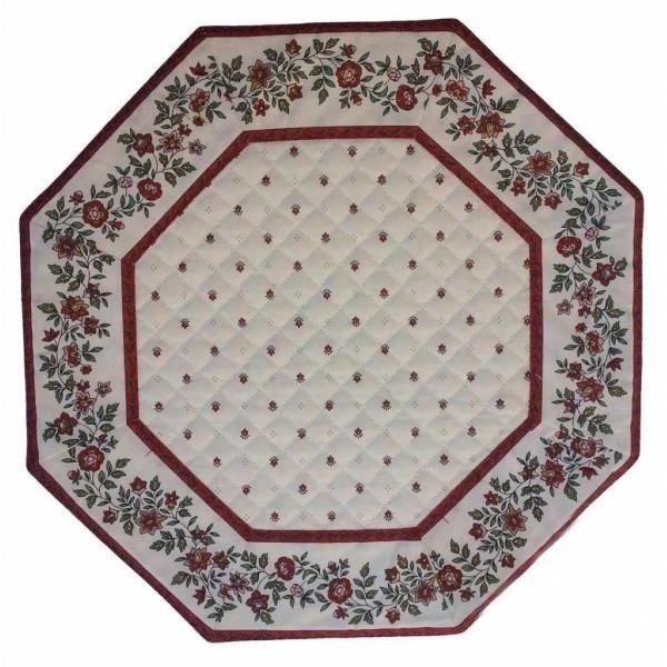 Set de table octogonal exclusif blanc rouge cad achat - Set de table lavable en machine ...