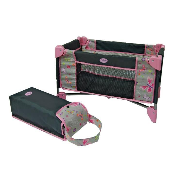 lit parapluie pour poup e achat vente nurserie cdiscount. Black Bedroom Furniture Sets. Home Design Ideas