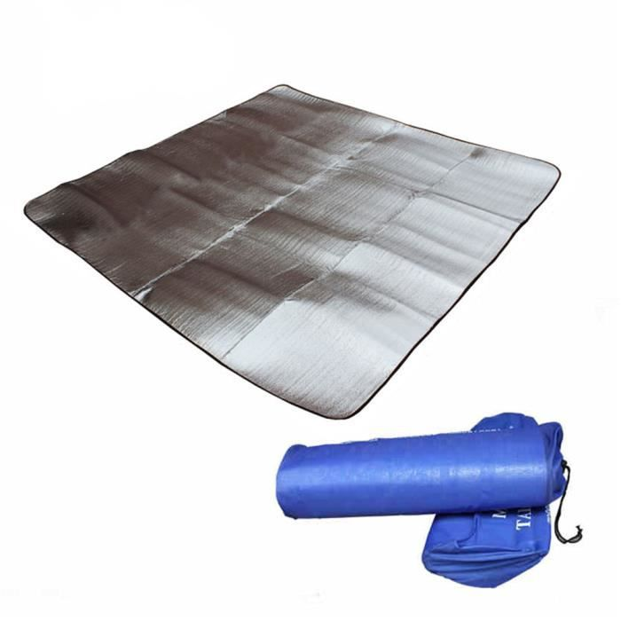 pliable pliant de couchage matelas tapis de sol pad etanche en aluminium feuille eva camping en. Black Bedroom Furniture Sets. Home Design Ideas