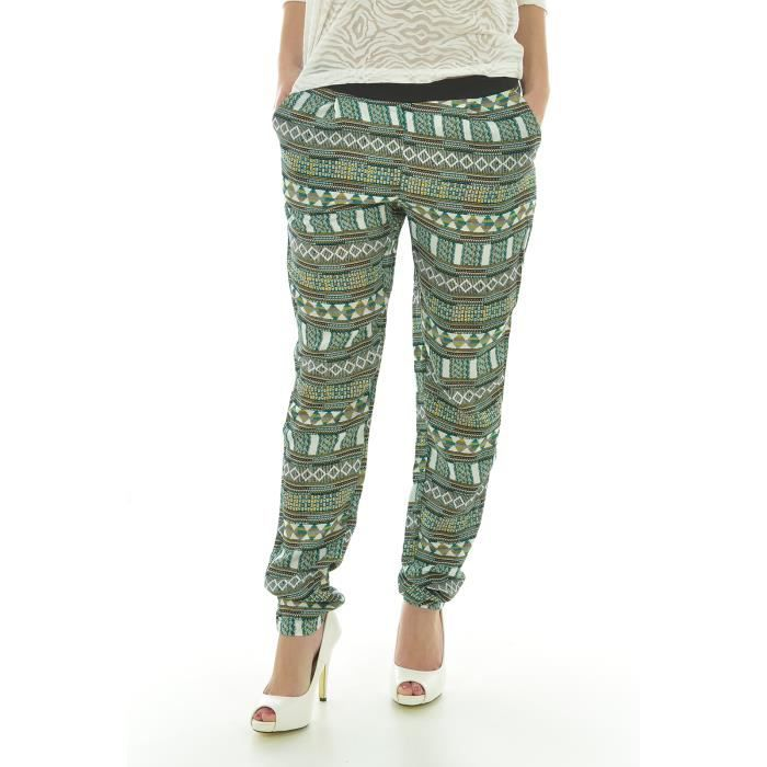 pantalon casual femme vero moda vert achat vente pantalon cdiscount. Black Bedroom Furniture Sets. Home Design Ideas