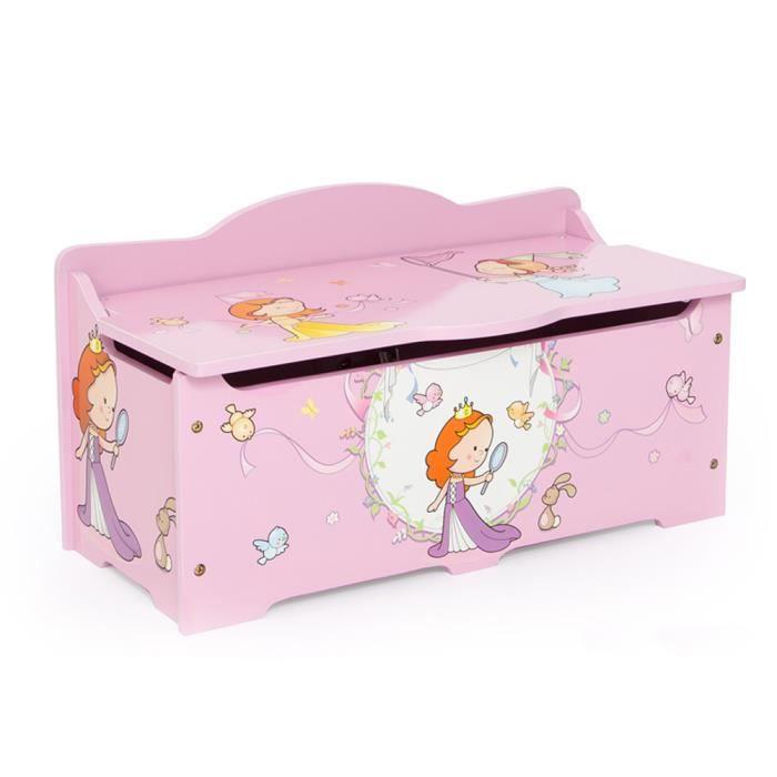 coffre jouer pour enfant coloris rose achat vente coffre jouets 6037657283658 soldes. Black Bedroom Furniture Sets. Home Design Ideas