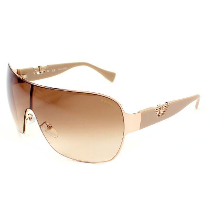 lunettes de soleil police s8765 or beige ver achat vente lunettes de soleil lunettes de. Black Bedroom Furniture Sets. Home Design Ideas
