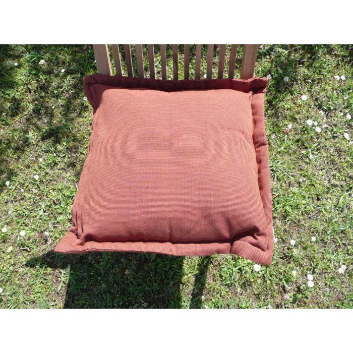 Coussin d houssable terracota 40x40cm achat vente - Coussin de chaise dehoussable ...