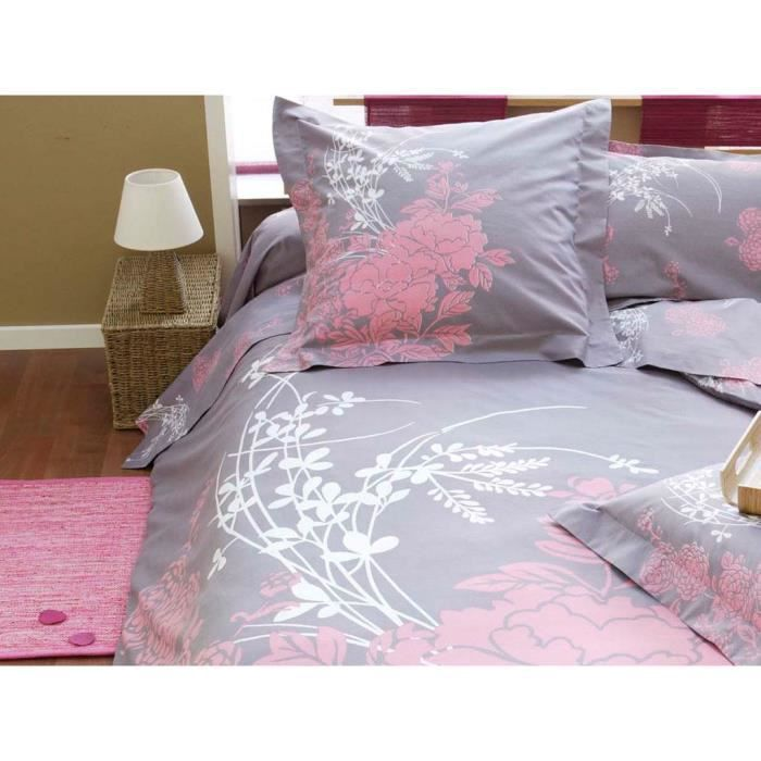 parure housse de couette kimono achat vente parure de couette cdiscount. Black Bedroom Furniture Sets. Home Design Ideas