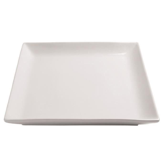 assiette carree en porcelaine achat vente assiette carree en porcelaine pas cher cdiscount. Black Bedroom Furniture Sets. Home Design Ideas