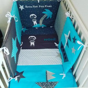 tour de lit pirate achat vente tour de lit pirate pas cher cdiscount. Black Bedroom Furniture Sets. Home Design Ideas