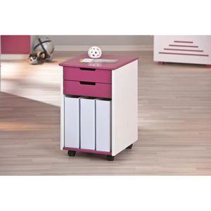 caisson sur roulette blanc achat vente caisson sur roulette blanc pas cher cdiscount. Black Bedroom Furniture Sets. Home Design Ideas