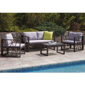 salon de jardin ozalide achat vente salon de jardin. Black Bedroom Furniture Sets. Home Design Ideas