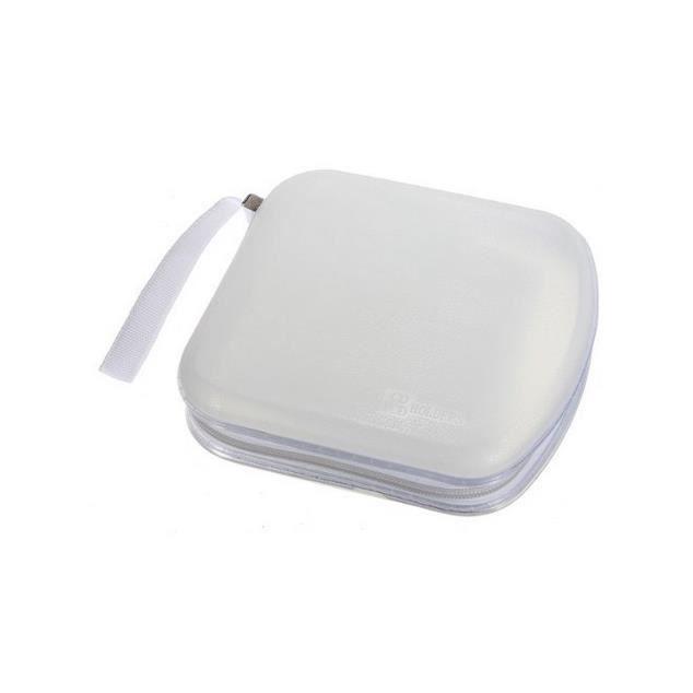 40 cd dvd sac sacoche plastique blanc blanc achat vente range cd 2009903128659 cdiscount. Black Bedroom Furniture Sets. Home Design Ideas