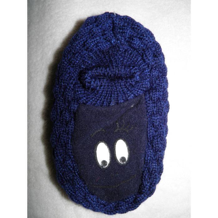 chaussons antid rapant barbapapa b b 14 cm pointure 22 23 bleu marine bleu achat. Black Bedroom Furniture Sets. Home Design Ideas