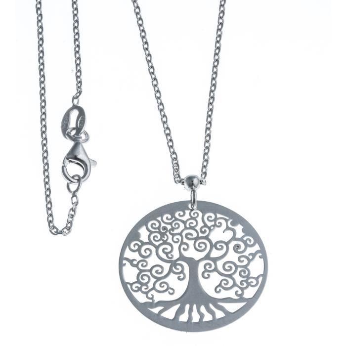 collier l 39 arbre de vie en argent rhodi achat vente sautoir et collier collier l 39 arbre de. Black Bedroom Furniture Sets. Home Design Ideas