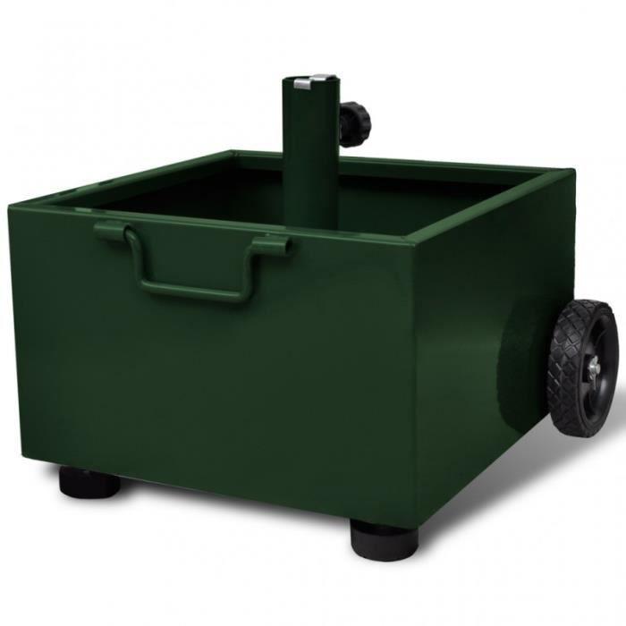 pied de parasol pot de fleurs vert 2202030 achat vente. Black Bedroom Furniture Sets. Home Design Ideas