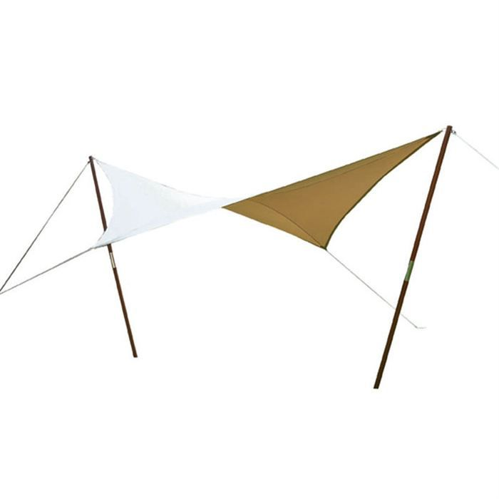 voile d 39 ombrage carr e en teck polyester achat vente parasol ombrage voile d. Black Bedroom Furniture Sets. Home Design Ideas