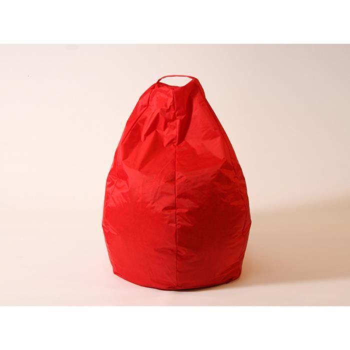 poire relax coloris rouge achat vente pouf poire. Black Bedroom Furniture Sets. Home Design Ideas