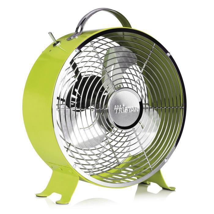ventilateur r tro m tallique tristar ve5965 vert achat. Black Bedroom Furniture Sets. Home Design Ideas
