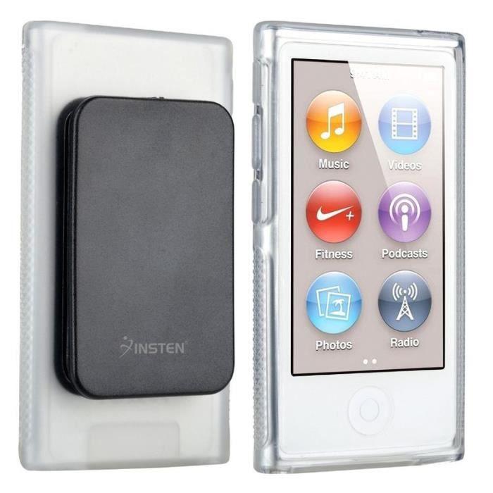 Insten housse coque tui transparent avec clip ceinture for Housse ipod nano