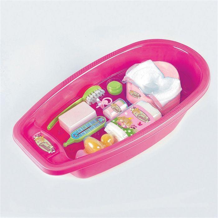 Baignoire pour poup es avec accessoires achat vente for Baignoire et accessoires
