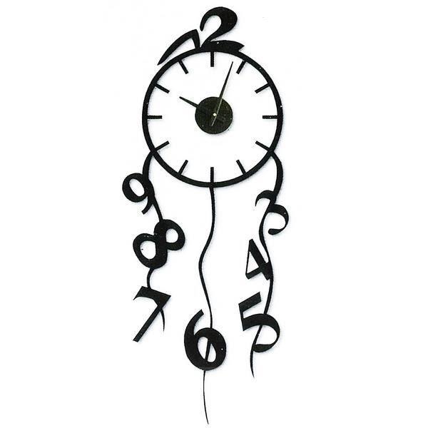Horloge sticker murale falling numbers achat vente for Mecanisme pour pendule murale