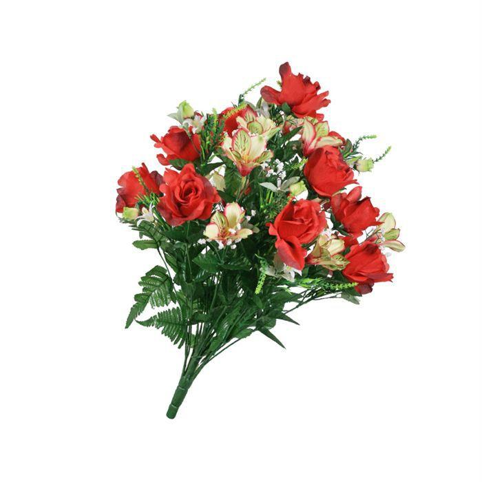 Bouquet r f aurore c rouge achat vente fleur for Vente fleurs artificielles