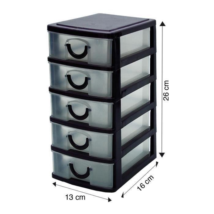 Bloc de rangement 5 tiroirs achat vente casier pour meuble cdiscount - Bloc de rangement ikea ...
