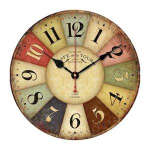 horloge murale chiffre couleur achat vente horloge murale chiffre couleur pas cher cdiscount. Black Bedroom Furniture Sets. Home Design Ideas