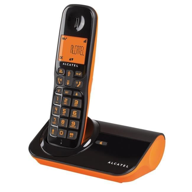 alcatel sigma 260 noir orange fluo achat t l phone fixe pas cher avis et meilleur prix. Black Bedroom Furniture Sets. Home Design Ideas