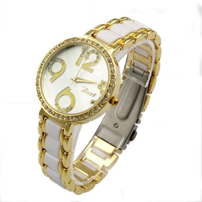 demarkt el gante diamant montre bracelet montre quartz pour femme couleur argent achat. Black Bedroom Furniture Sets. Home Design Ideas