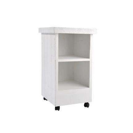 etag re tour carr e en bois sur roulettes 40x40 achat vente meuble tag re etag re tour. Black Bedroom Furniture Sets. Home Design Ideas