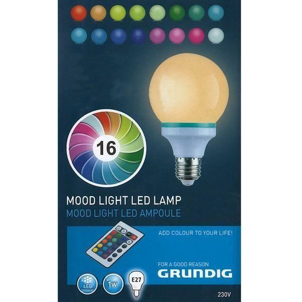 ampoule led couleurs changeantes avec t l com achat vente ampoule led couleurs chan. Black Bedroom Furniture Sets. Home Design Ideas